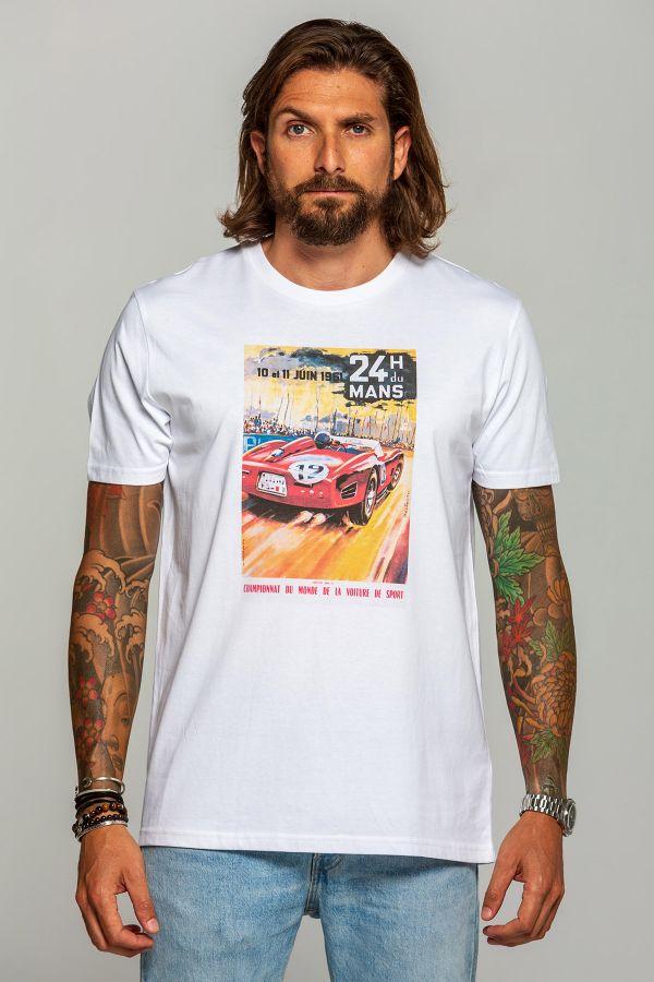 Tee Shirt Homme 24h Le Mans 1961 BLANC