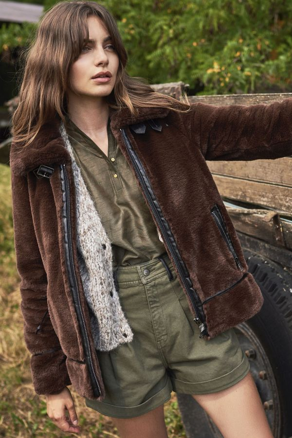 Blouson Femme Oakwood CULTURE MARRON 504