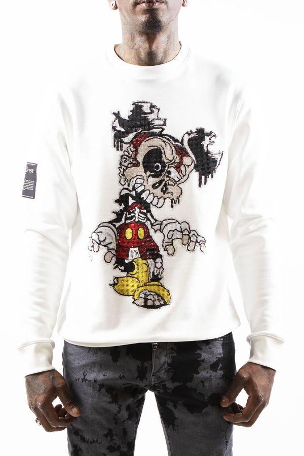 Pull/sweatshirt Homme Horspist DESTROY WHITE