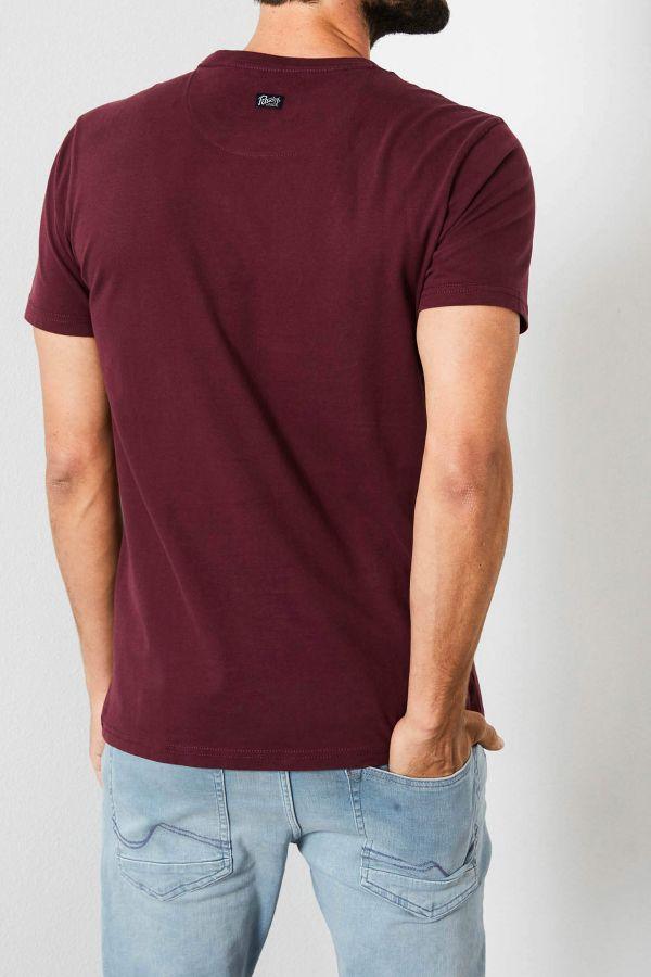 Tee Shirt Homme Petrol Industries TSR602 3093 BURGUNDY