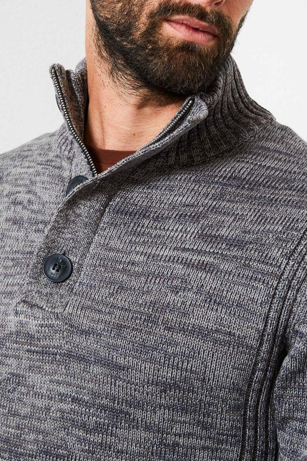 Pull/sweatshirt Homme Petrol Industries KWC206 9073 RAVEN GREY