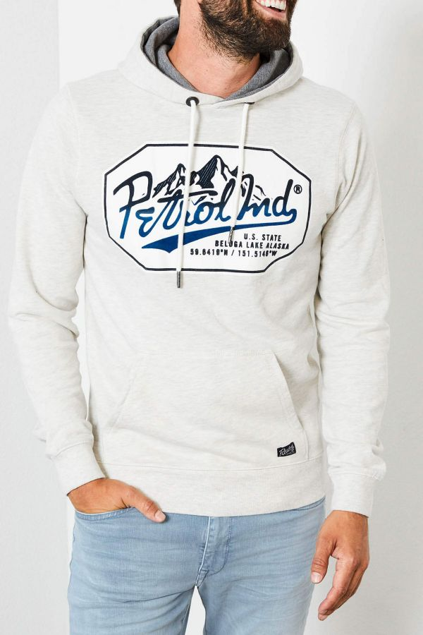 Pull/sweatshirt Homme Petrol Industries SWH301 0009 ANTIQUE WHITE