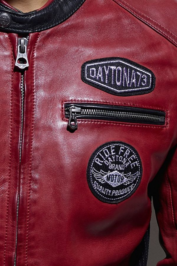 Blouson Homme Daytona GALIANO SHEEP ATLAS VEG RED