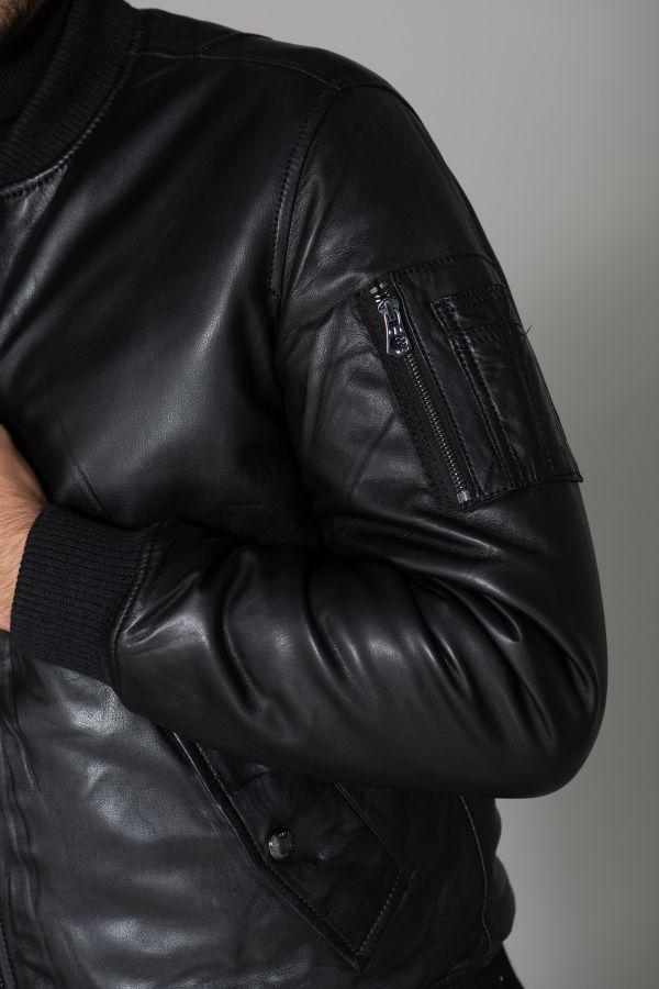 Blouson Homme Daytona MERMOZ LAMB RUBY LIGHT BLACK