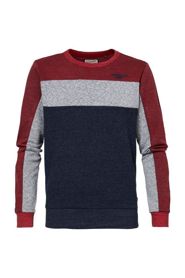 Pull/sweatshirt Homme Petrol Industries SWR374 3061 FIRE RED