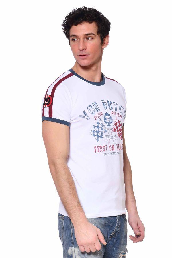 Tee Shirt Homme Von Dutch GAMB WHITE
