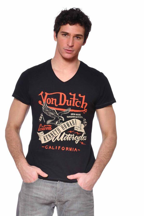 Tee Shirt Homme Von Dutch TSHIRT EAGLE NOIR