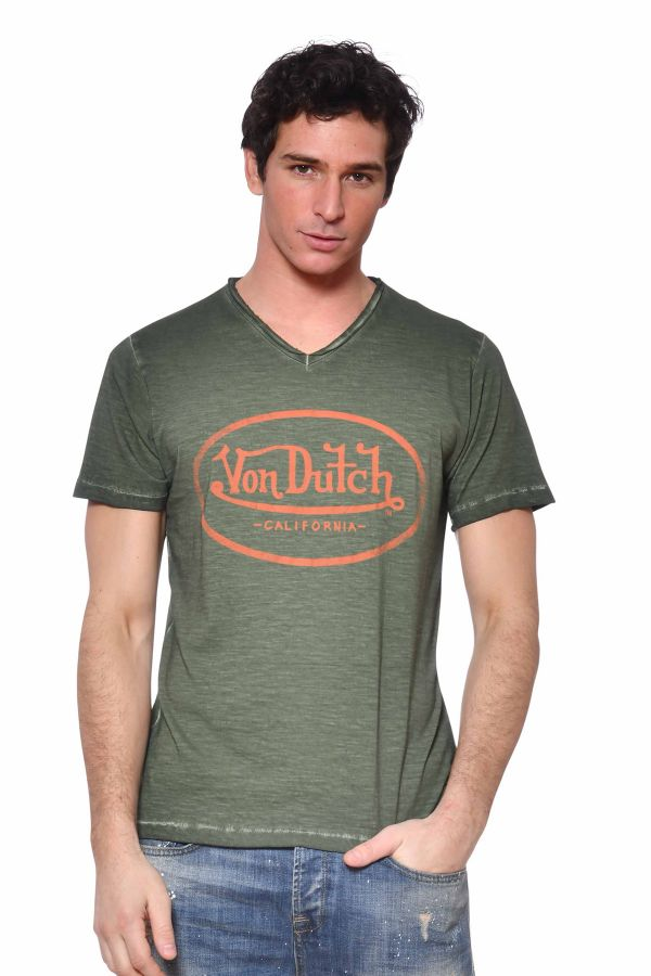 Tee Shirt Homme Von Dutch TSHIRT RON KAKI