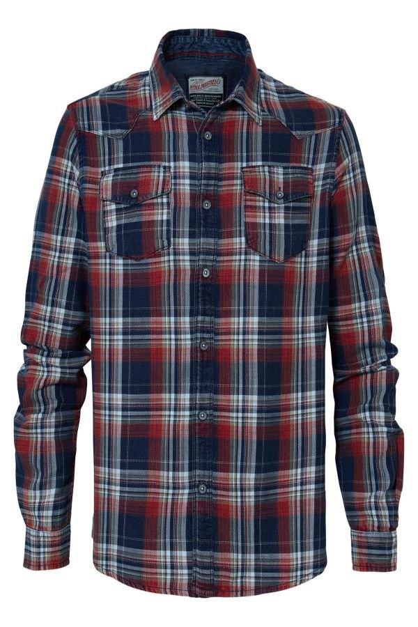 Chemise Homme Petrol Industries SIL408 3061 FIRE RED