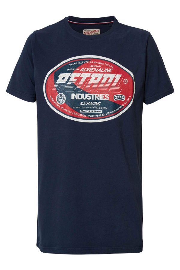 Tee Shirt Homme Petrol Industries TSR600 5091 DEEP NAVY