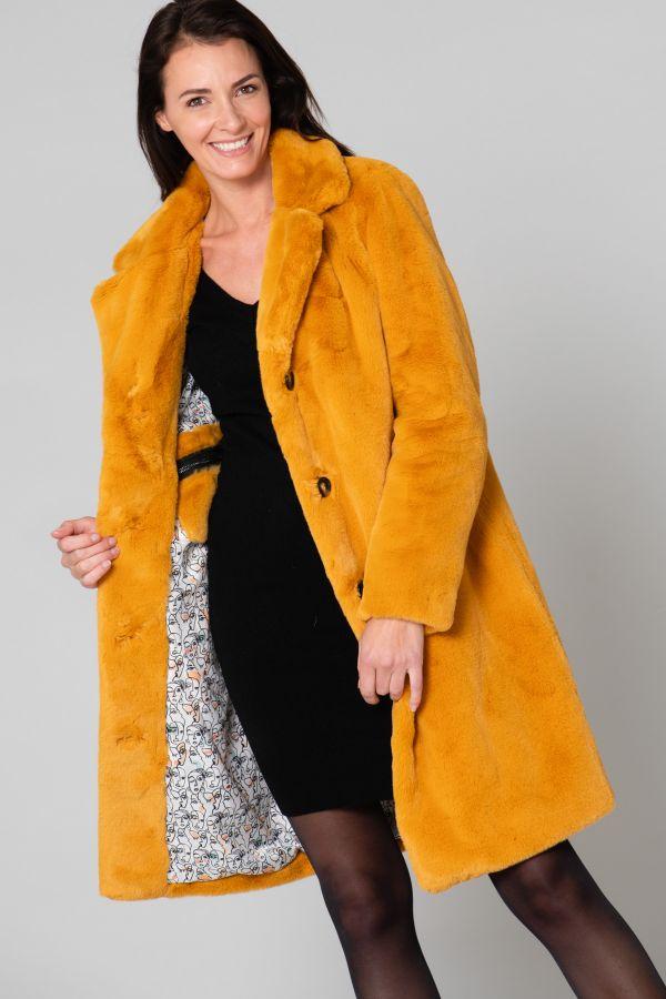 Damen Mantel Oakwood CYBER JAUNE 555