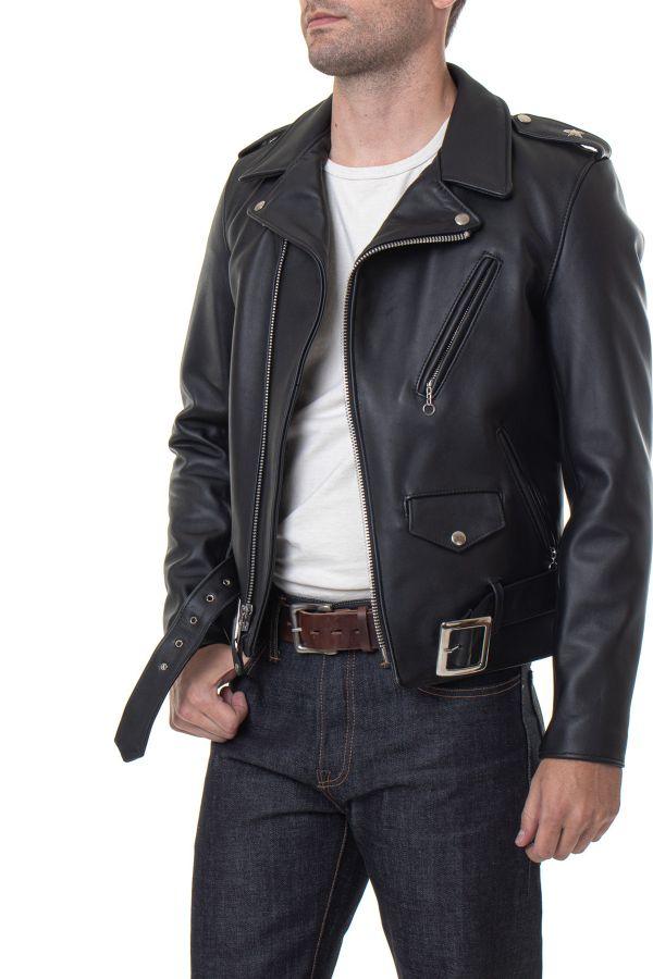 Blouson Homme Schott 613S BLACK