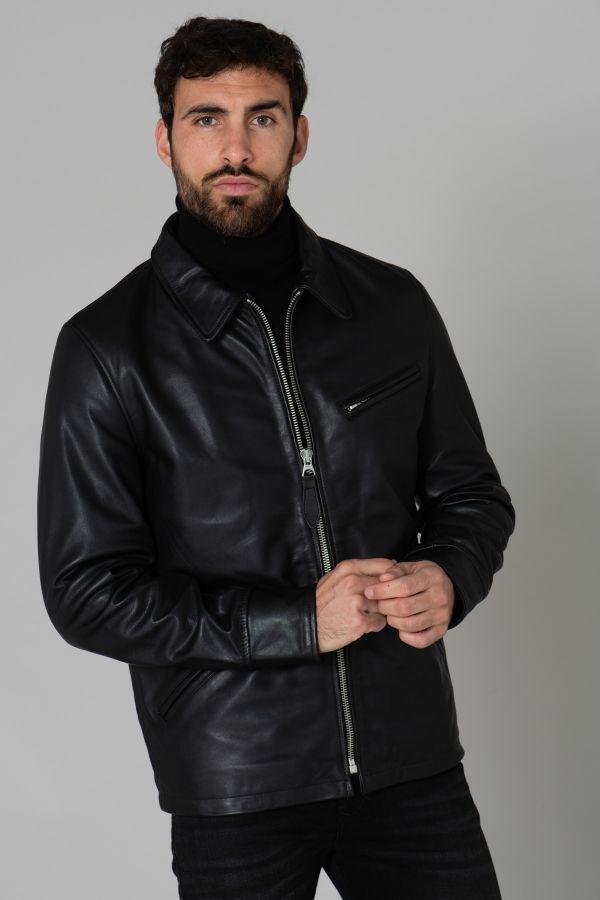 Blouson Homme Schott LC9521D BLACK