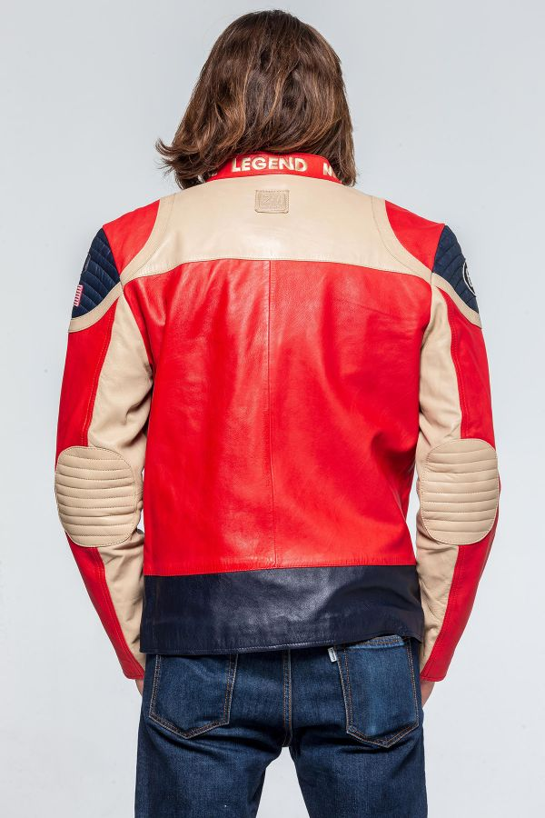 Blouson Homme 24h Le Mans STEEL SHEEP CROWN RED / OFF WHITE
