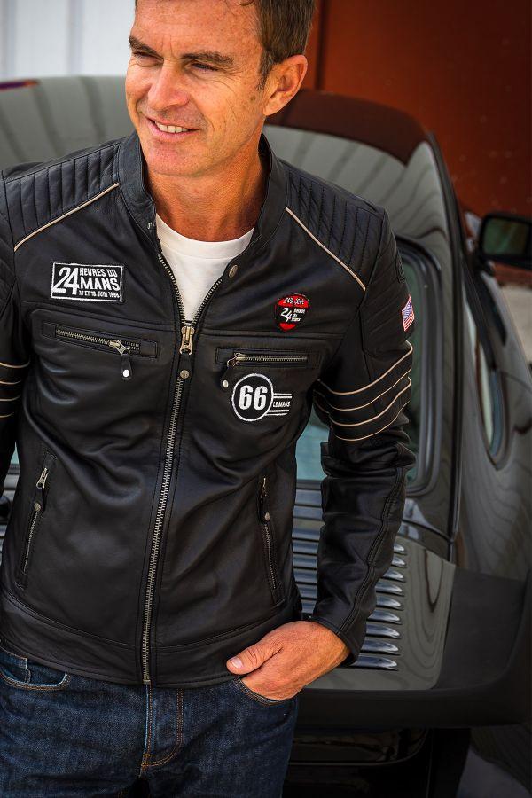 Blouson Homme 24h Le Mans IRON SHEEP CROWN BLACK