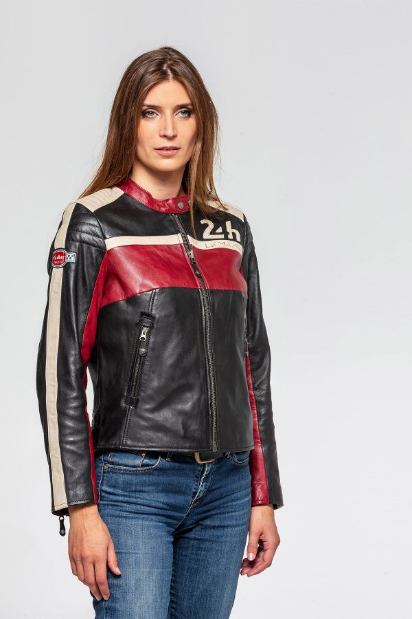 Damen Jacke 24h Le Mans HOTROAD-WINTER SHEEP CROWN BLACK / RED/ ECRU