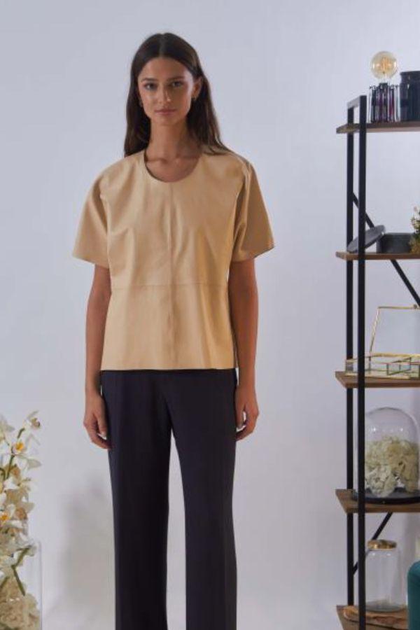 Tee Shirt Femme Oakwood ANGELINA BEIGE 514