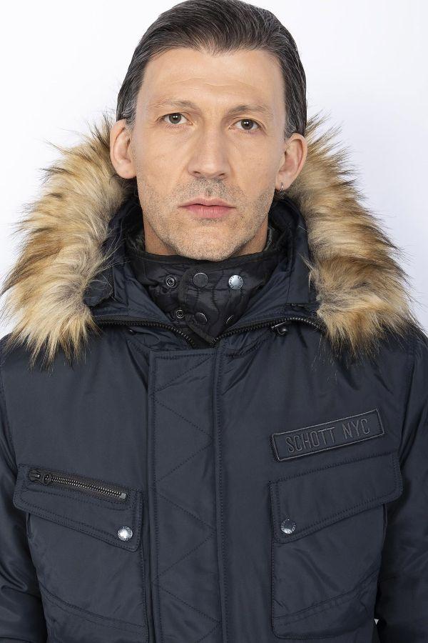 Manteau Homme Schott BURBANKS NAVY