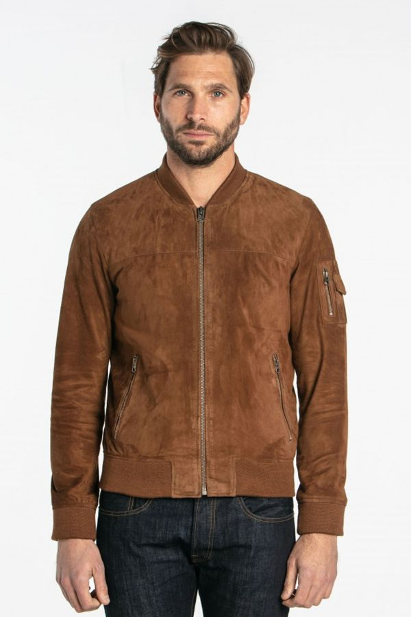 Blouson Homme Daytona TED GOAT SUEDE TOBACCO