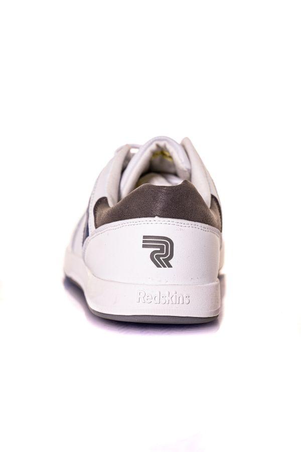 Baskets En Cuir Homme Chaussures Redskins VILLAMI BLANC+MARINE