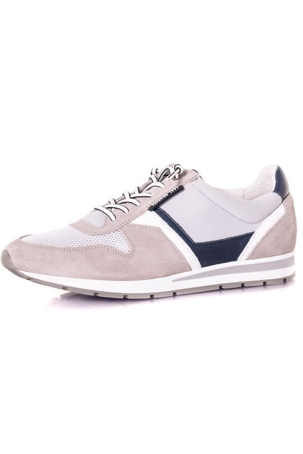 Baskets En Toile Homme Chaussures Redskins SMITH GRIS+MARINE