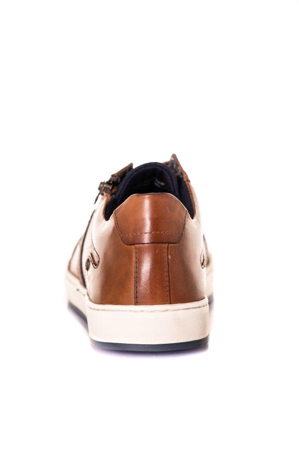 Baskets En Cuir Homme Chaussures Redskins MARIAL BRANDY+MARINE