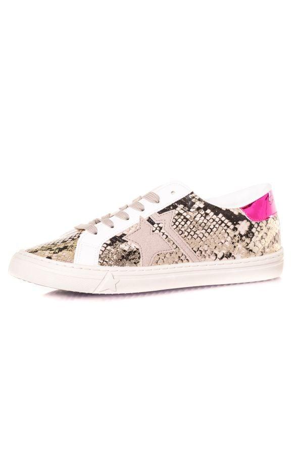 Baskets En Cuir Femme Kaporal Shoes MOUNA SERPENT