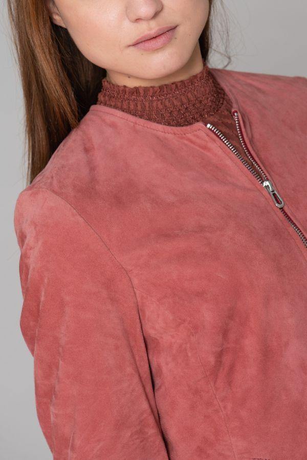 Blouson Femme Daytona ELISA CURVE GOAT SUEDE MINERAL RED