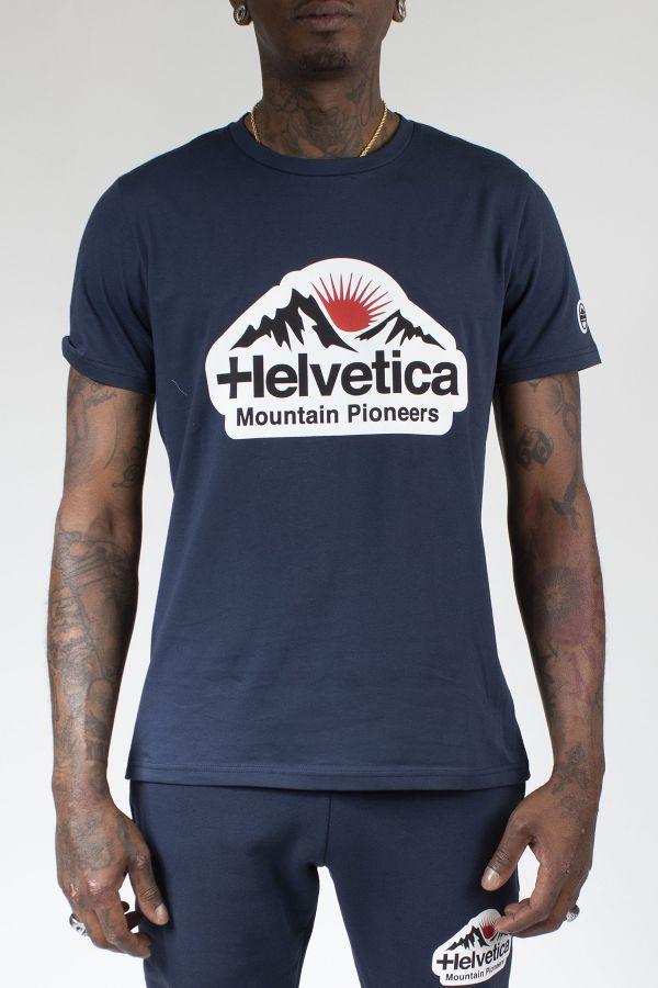 Tee Shirt Homme Helvetica POST DARK NAVY