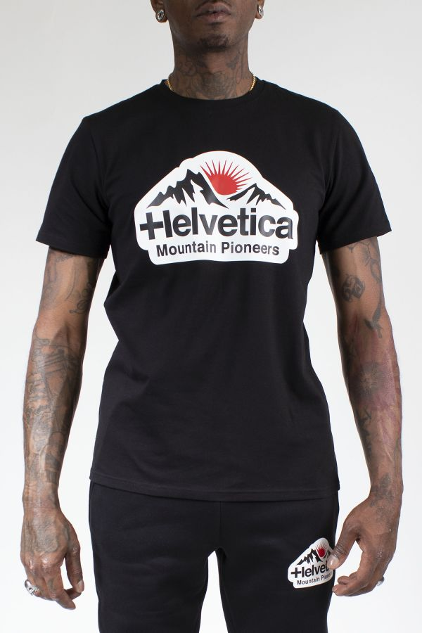Tee Shirt Homme Helvetica POST BLACK