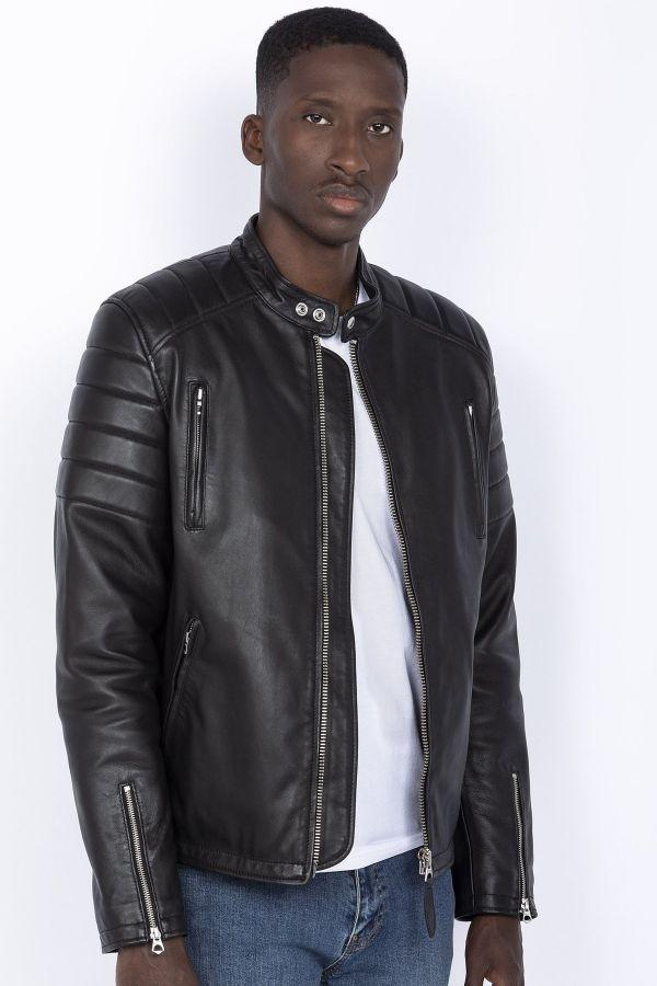 Blouson Homme Schott LCFUEL BLACK