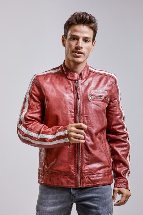 Blouson Homme Redskins CARDIFF CALISTA RED WHITE