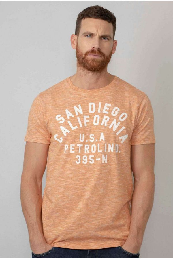 Tee Shirt Homme Petrol Industries TSR609 2109 ORANGE SMOOTHIE