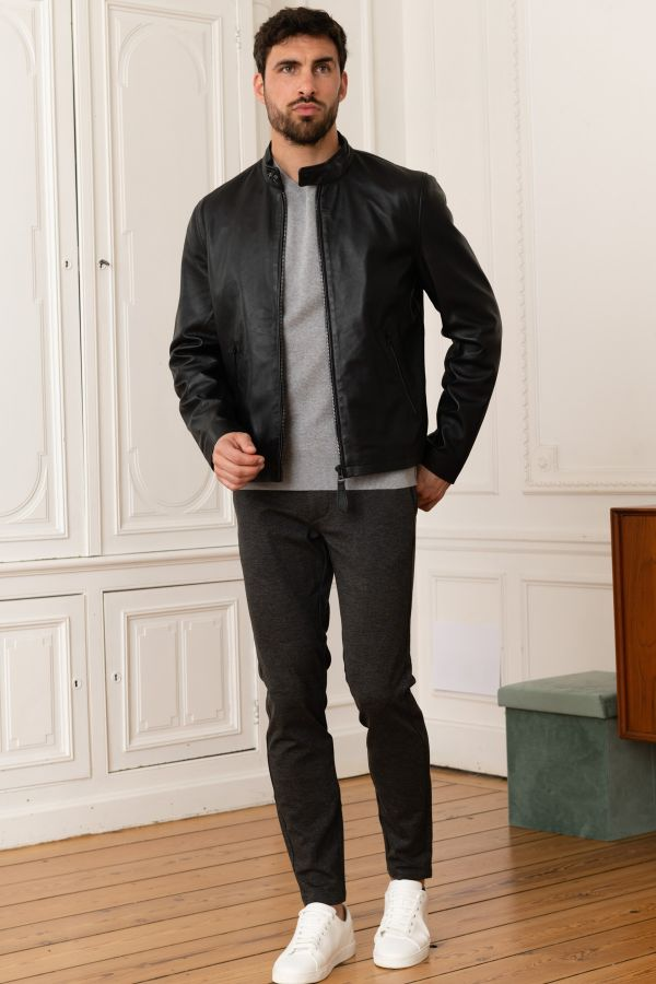 Blouson Homme Schott LCBIKER BLACK