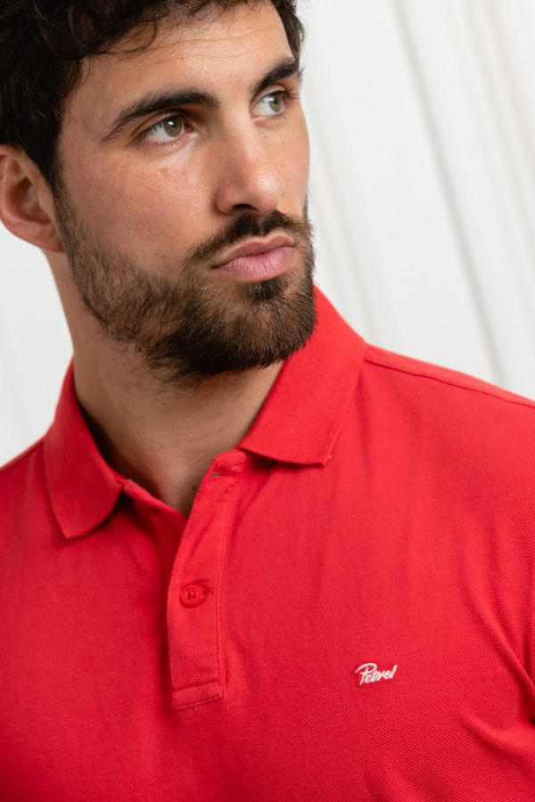 Polo Homme Petrol Industries POL907 3142 IMPERIAL RED