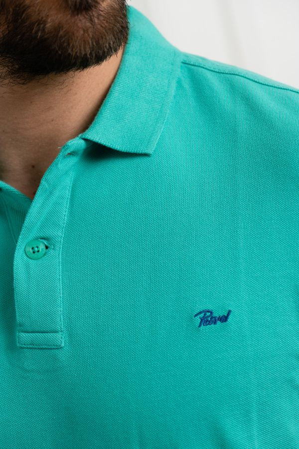 Polo Homme Petrol Industries POL907 6136 PEPPER GREEN
