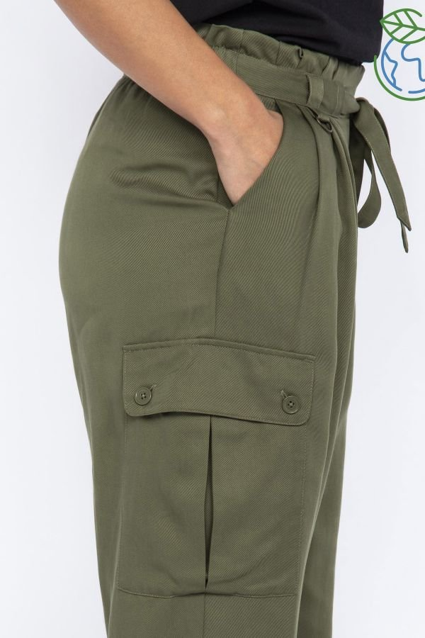 Pantalon Femme Schott TRCARGOWIDEW KAKI