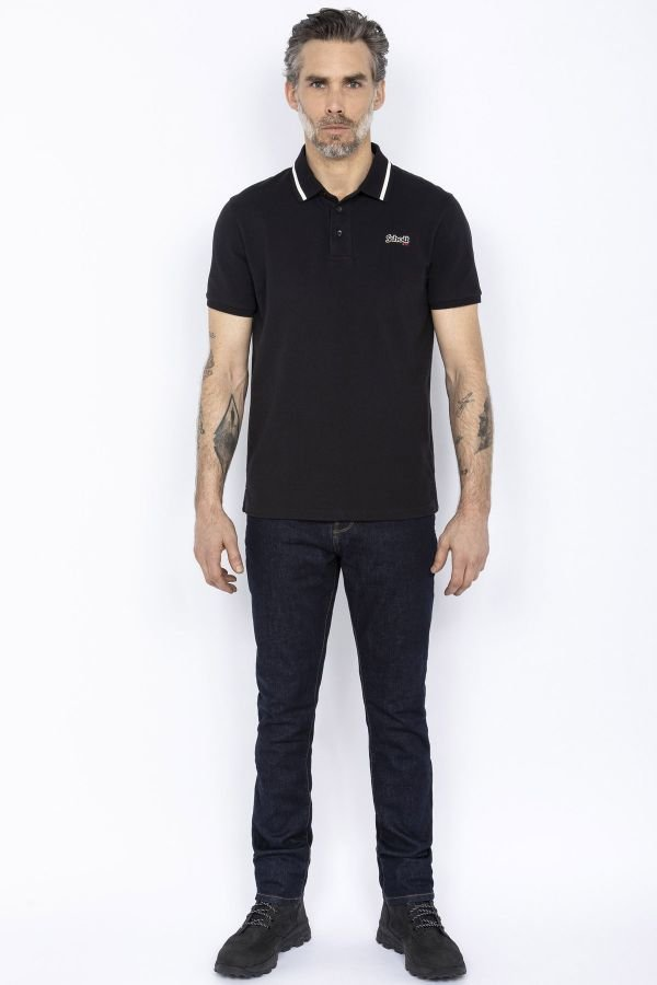 Polo Homme Schott PSBRADLEY BLACK