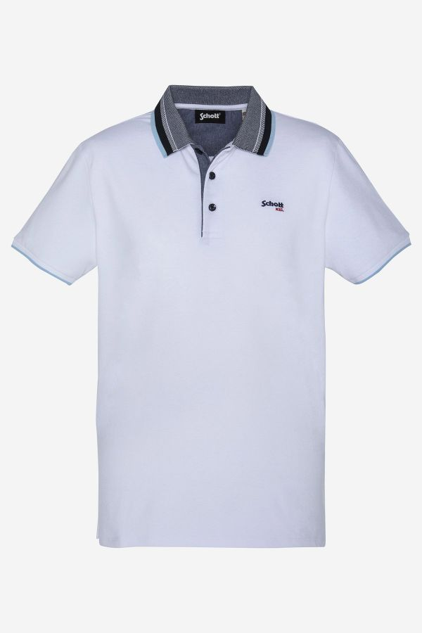 Polo Homme Schott PSWESLEY WHITE