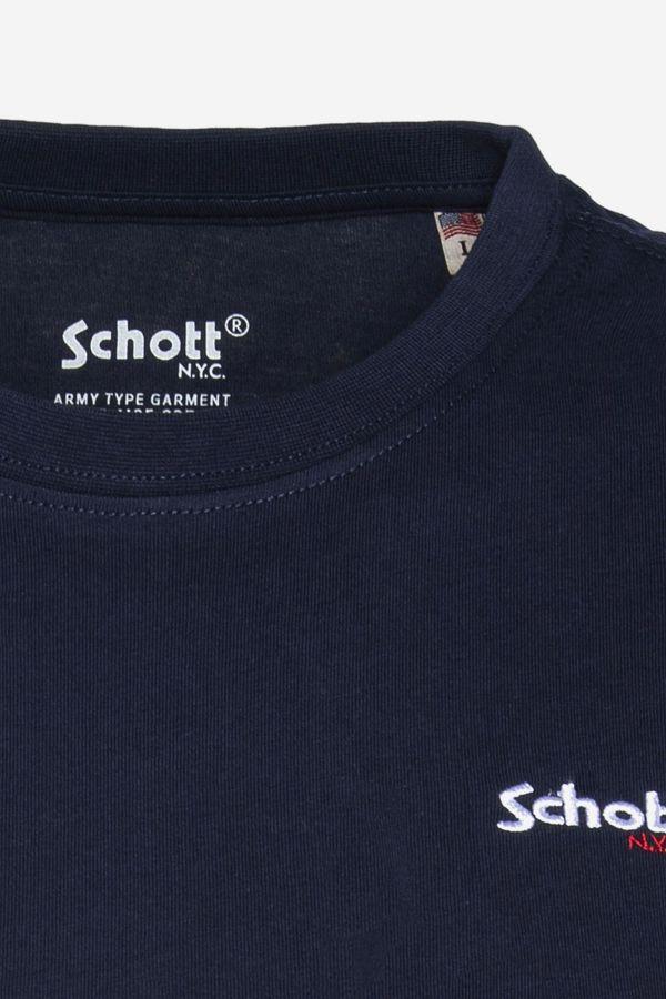 Tee Shirt Homme Schott TSLOGOCASUAL NAVY