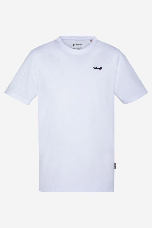 Tee Shirt Homme Schott TSLOGOCASUAL WHITE