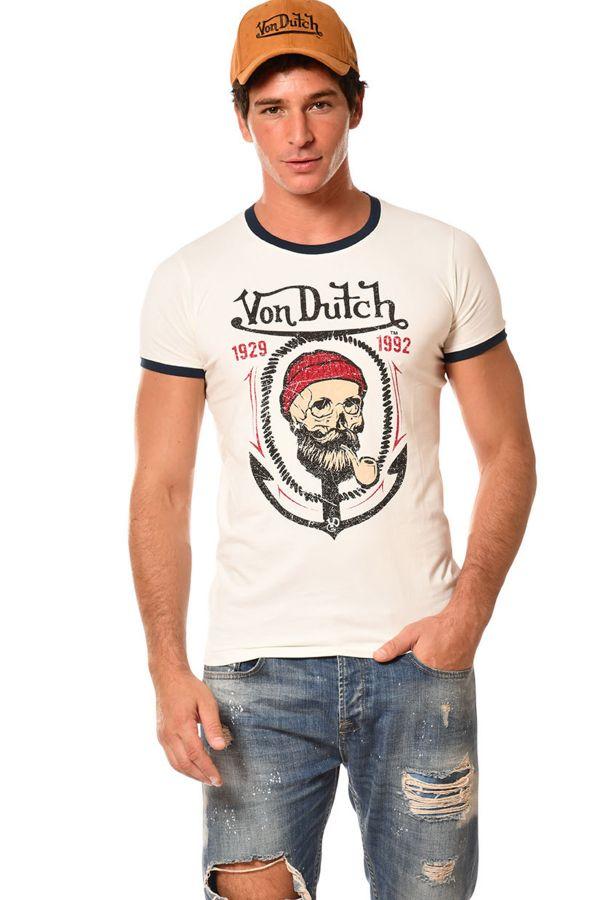 Tee Shirt Homme Von Dutch TEE SHIRT SAIL ECRU