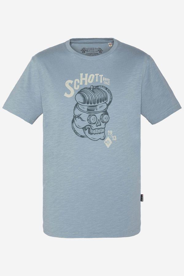 Tee Shirt Homme Schott TSJON AZUR