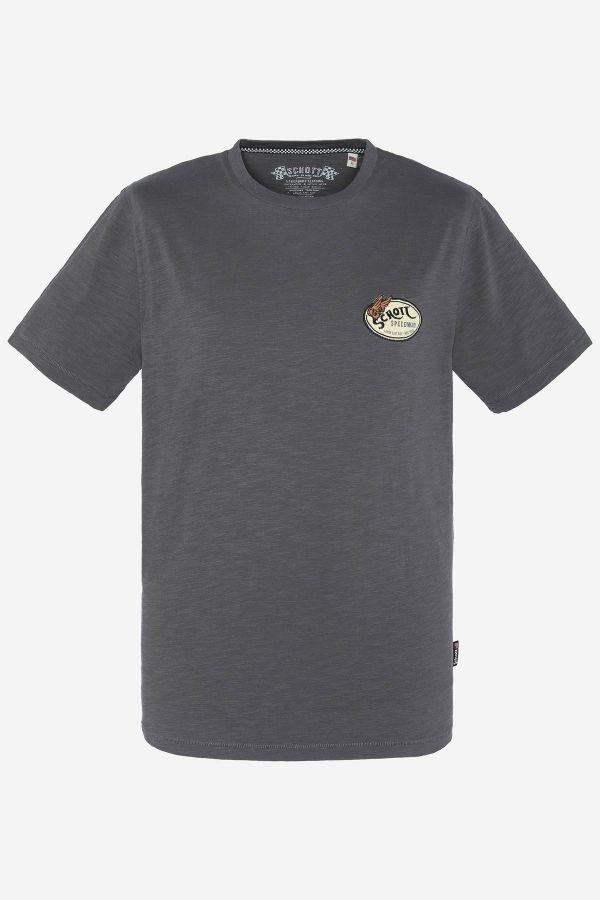 Tee Shirt Homme Schott TSKYLIAN CHARCOAL