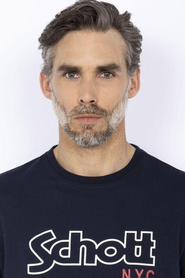 Tee Shirt Homme Schott TSLOGOVINT NAVY