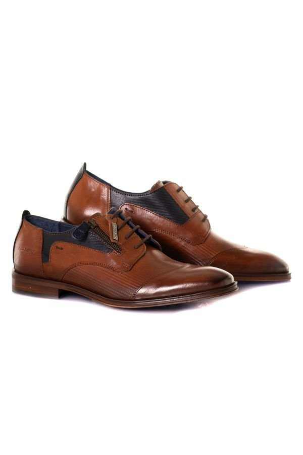 Chaussures à Lacets Homme Chaussures Redskins WILLOM COGNAC MARINE