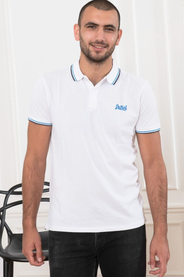 Polo Homme Petrol Industries POL900 0000 BRIGHT WHITE