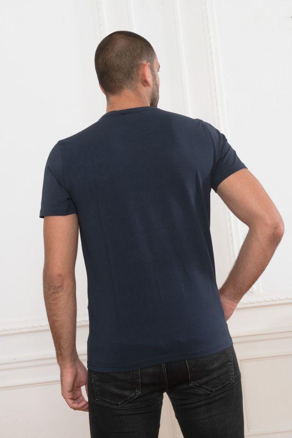 Tee Shirt Homme Helvetica AJACCIO DARK NAVY