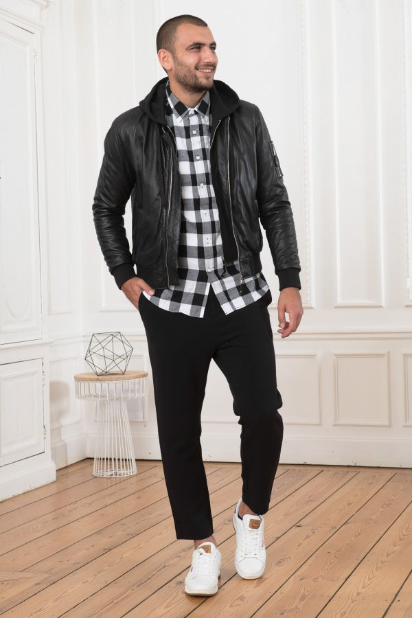 Blouson Homme Serge Pariente BALLE HOOD BLACK