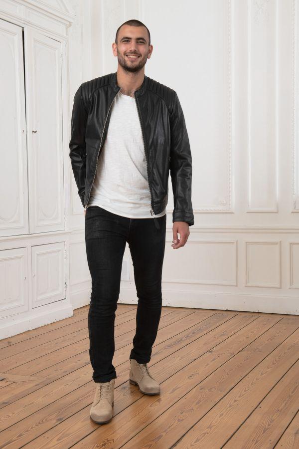 Blouson Homme Schott LCJULIAN BLACK